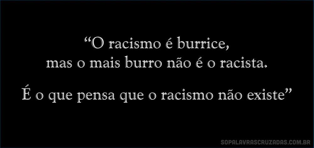 Palavras Cruzadas - Racismo