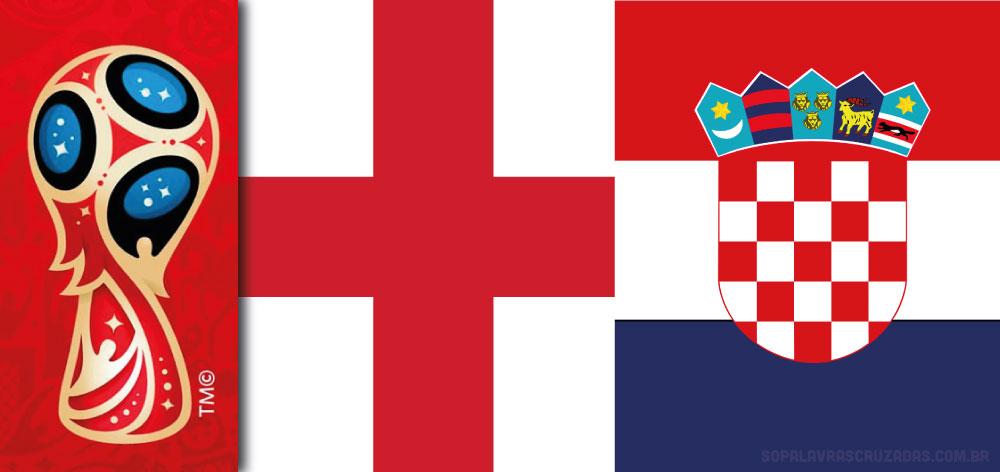 Palavras Cruzadas - Inglaterra x Croácia
